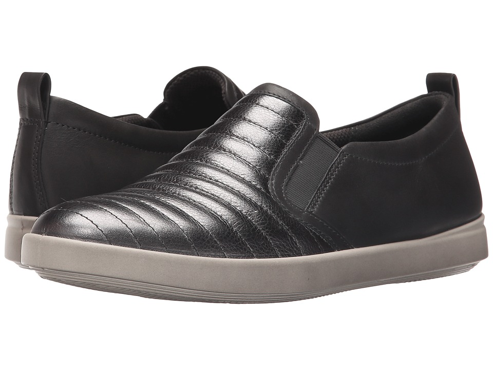 ECCO - Aimee Elastic Slip-On (Dark Shadow Metallic/Dark Shadow) Women's Lace up casual Shoes