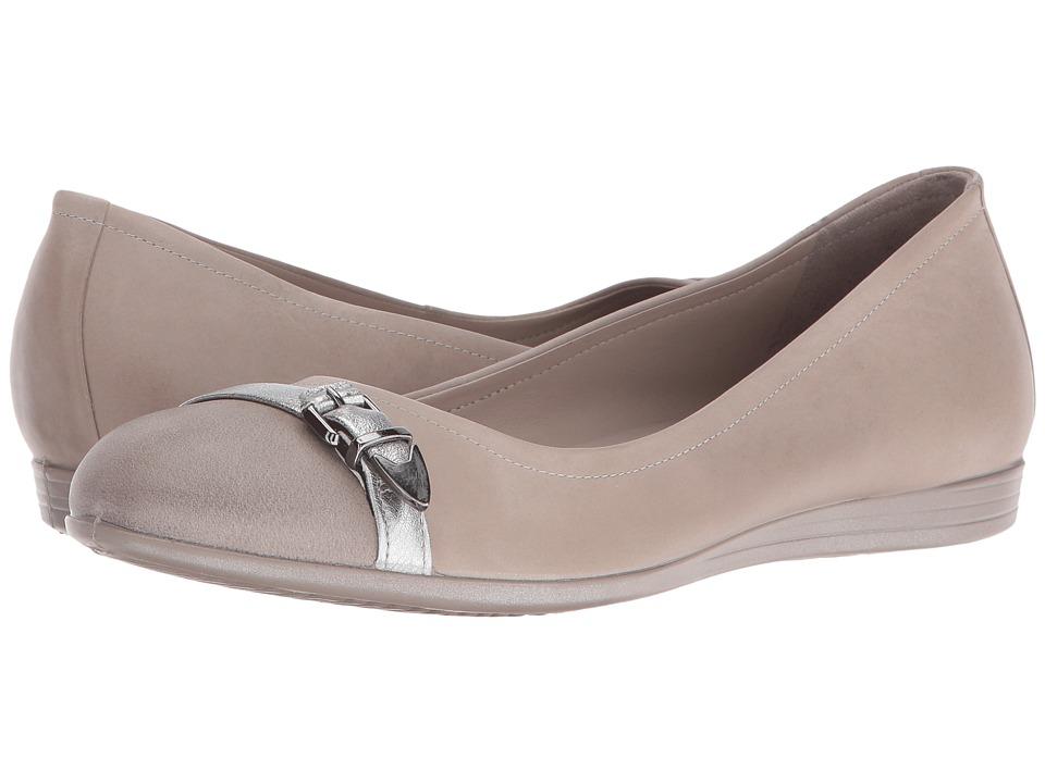 ECCO - Touch 15 Scale Ballerina (Moon Rock/Alusilver/Moon Rock) Women's Slip on Shoes