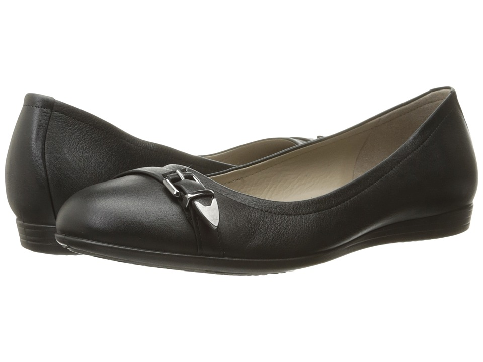 ECCO - Touch 15 Scale Ballerina (Black) Women's Slip on Shoes