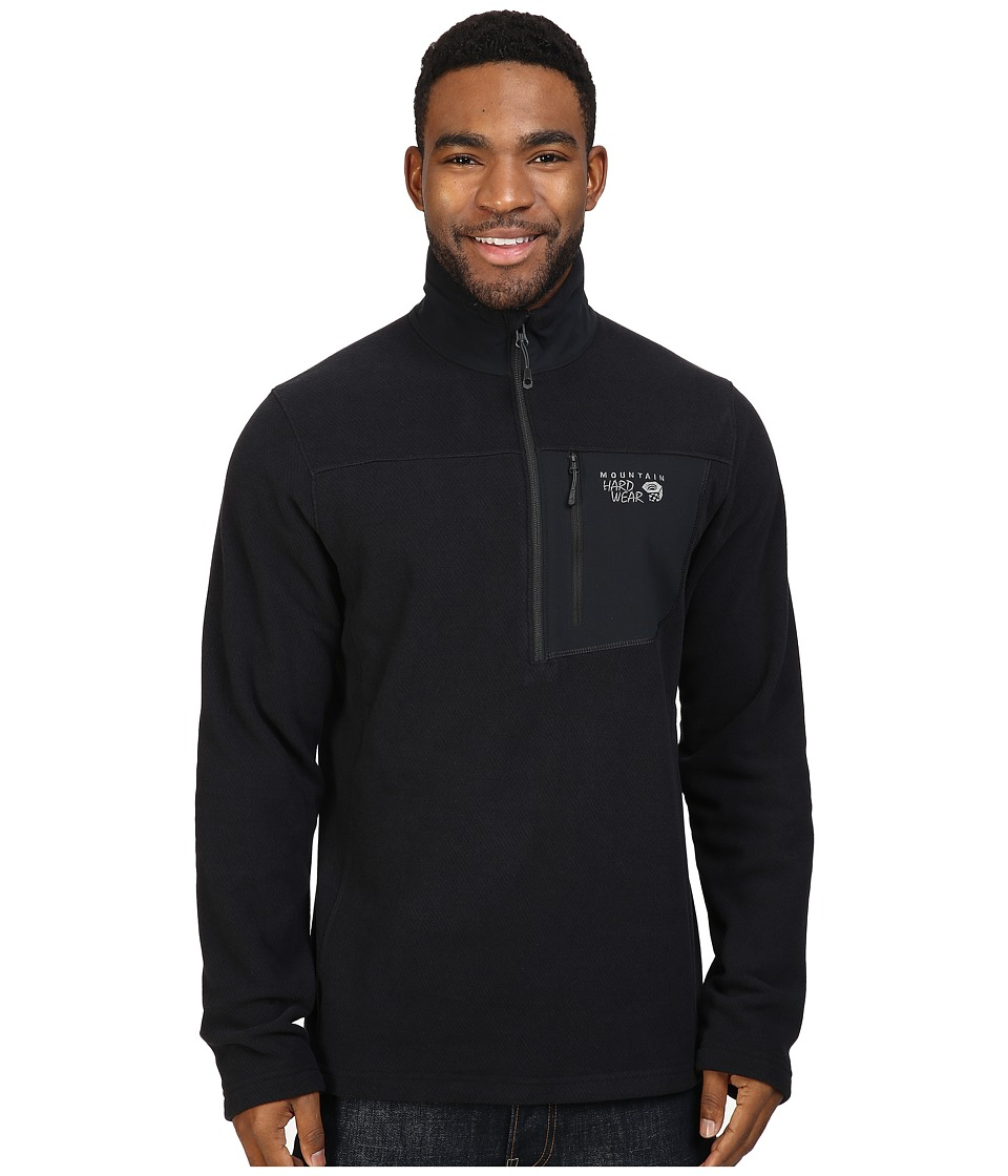 Mountain Hardwear - Toasty Twill Fleece 1/2 Zip (Black) Men's Coat