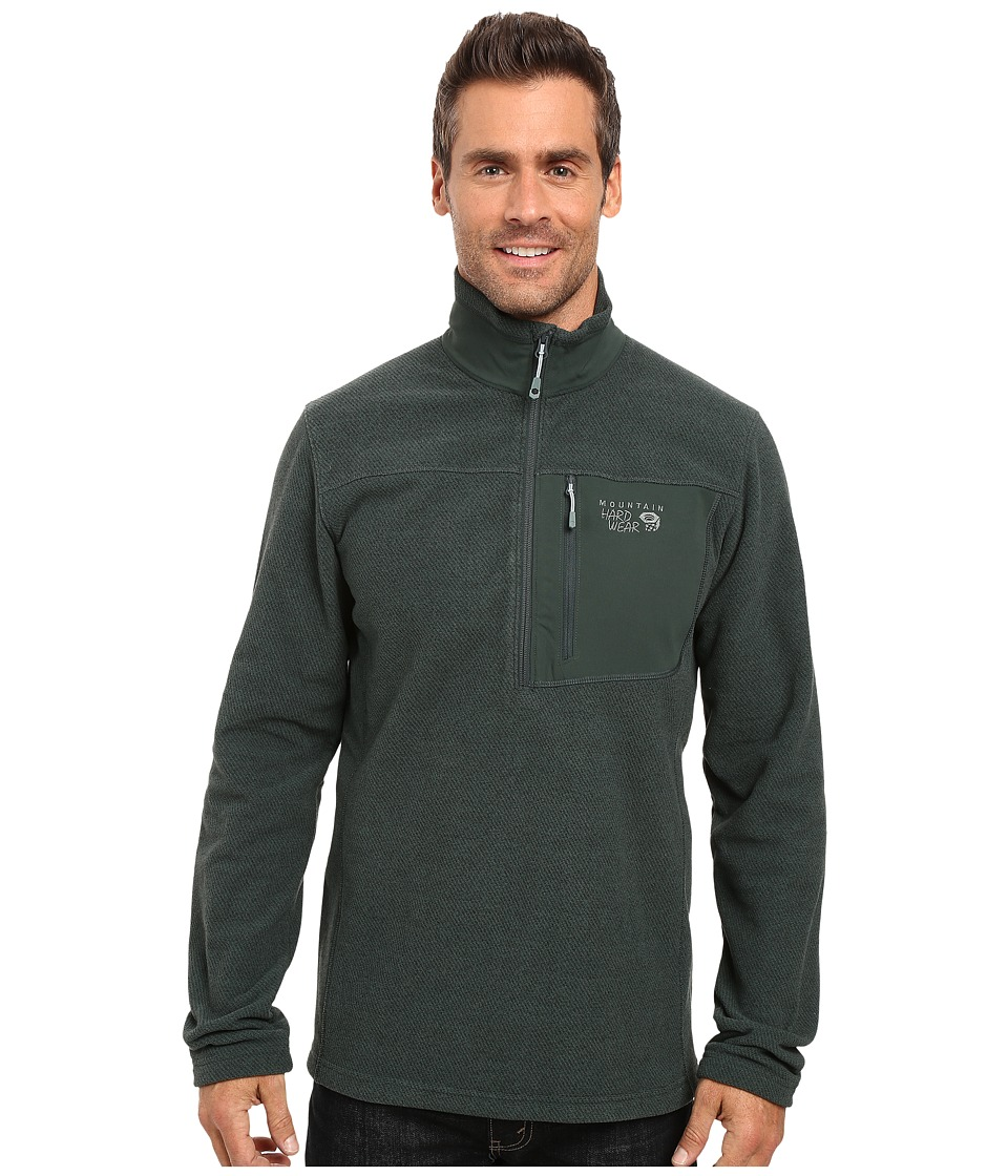 Mountain Hardwear - Toasty Twill Fleece 1/2 Zip (Dark Forest) Men's Coat