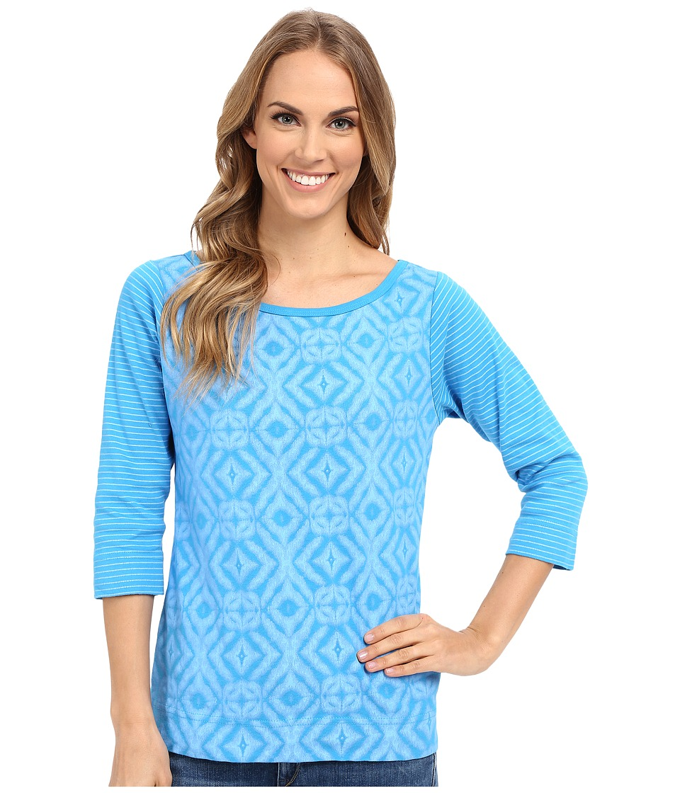 Fresh Produce - Shibori Bella Mingle Top (Marina Blue) Women's Clothing