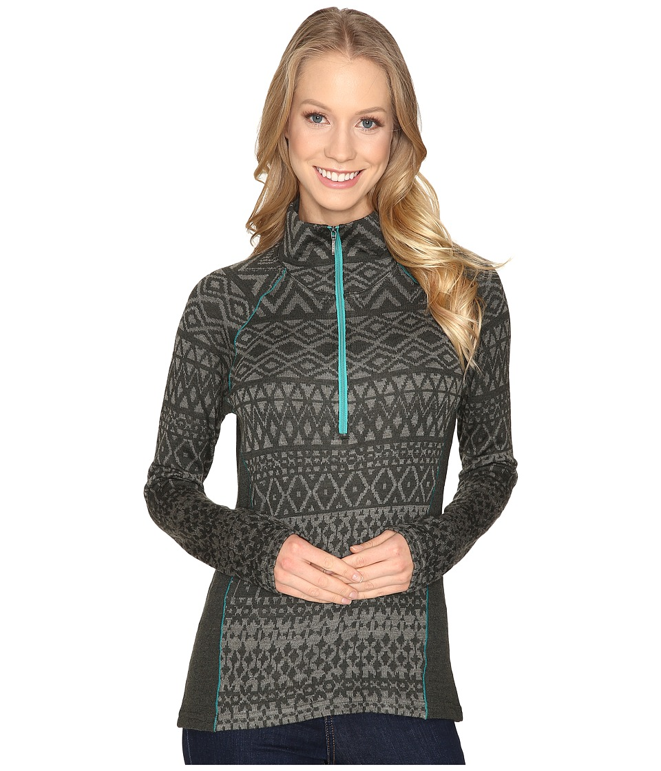KUHL - Adriana 1/2 Zip (Dark Forest) Women's Long Sleeve Pullover