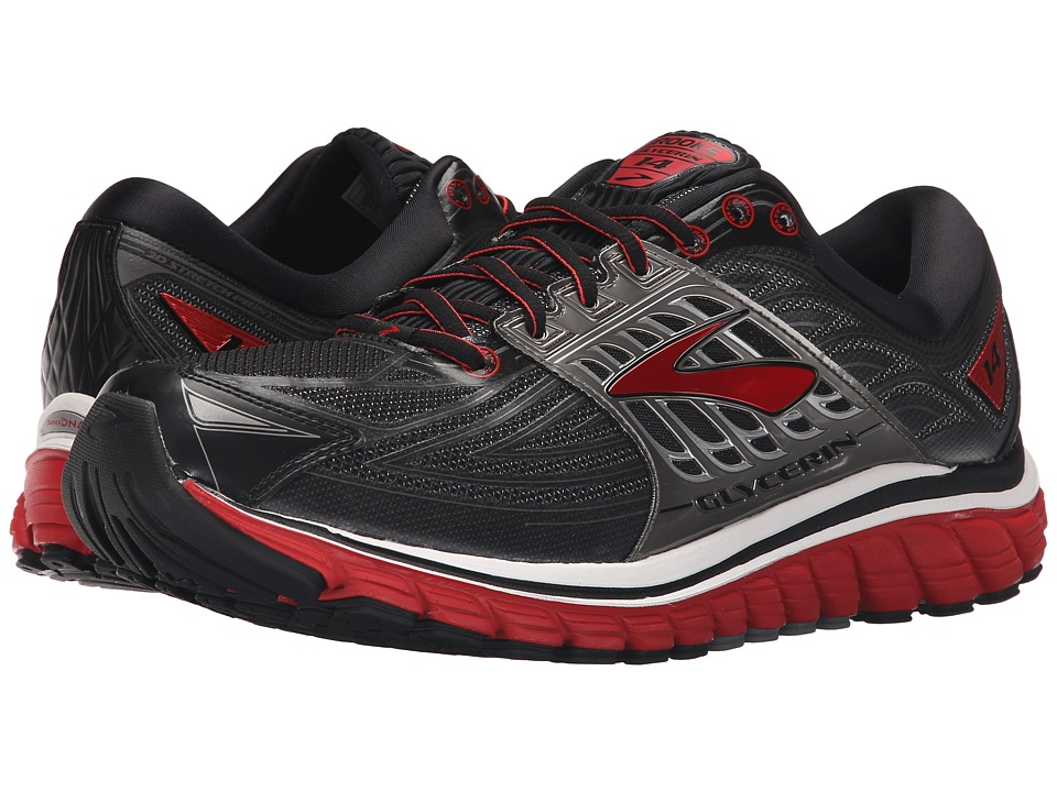 Brooks - Glycerin 14 (Black/High Risk Red/Anthracite) Men's Running Shoes