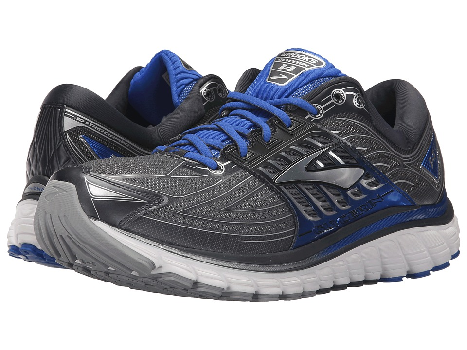 Brooks - Glycerin 14 (Anthracite/Electric Brooks Blue/Silver) Men's Running Shoes