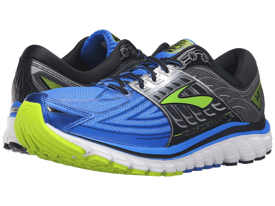 Brooks - Glycerin 14 (Electric Brooks Blue/Black/Lime Punch) Men's Running Shoes