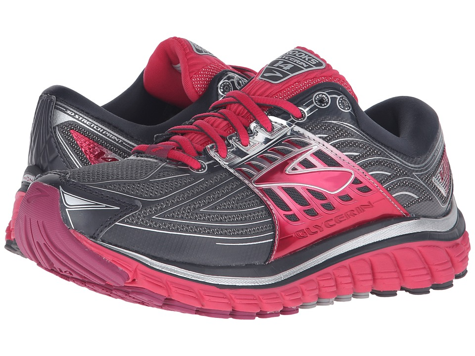 Brooks - Glycerin 14 (Anthracite/Azalea/Silver) Women's Running Shoes