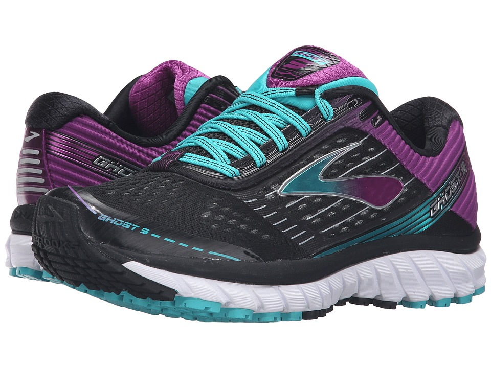 Brooks - Ghost 9 (Black/Sparkling Grape/Ceramic) Women's Running Shoes