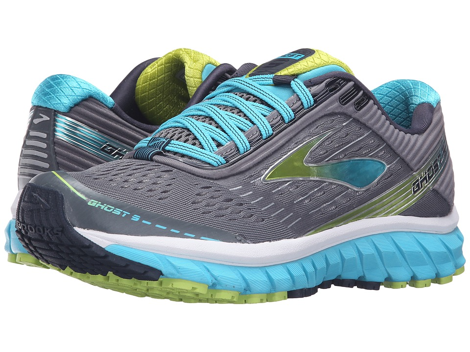 Brooks - Ghost 9 (Silver/Blue Atoll/Lime Punch) Women's Running Shoes