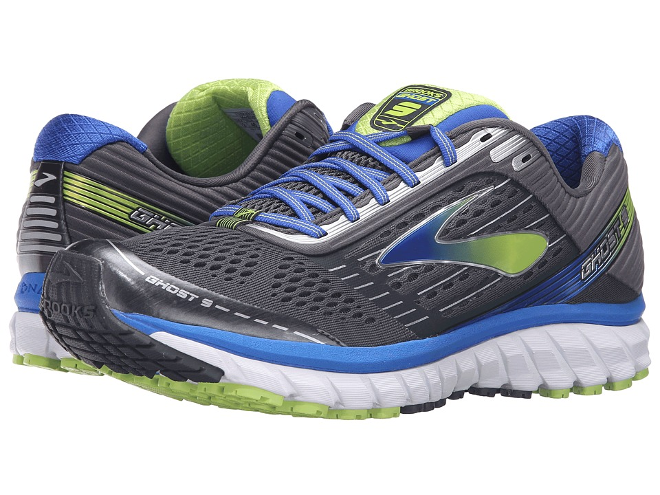 Brooks Ghost 9 (Anthracite/Electric Brooks Blue/Lime Punch) Men