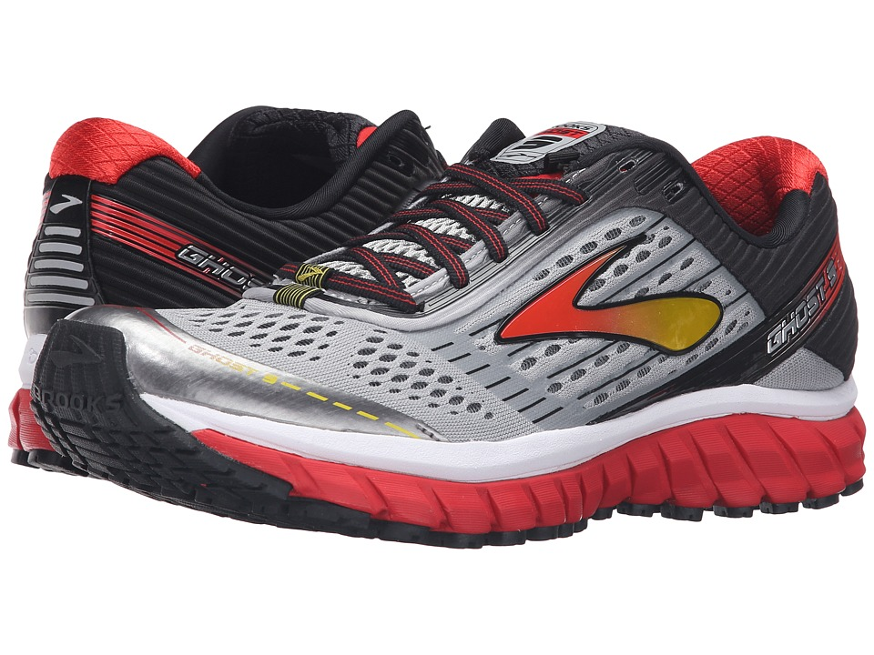 Brooks - Ghost 9 (Alloy/High Risk Red/Black) Men's Running Shoes