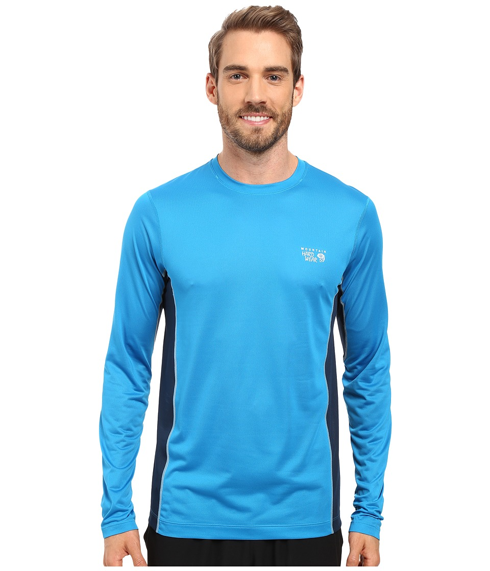 Mountain Hardwear - Wicked Lite L/S Tee (Dark Compass) Men's Long Sleeve Pullover