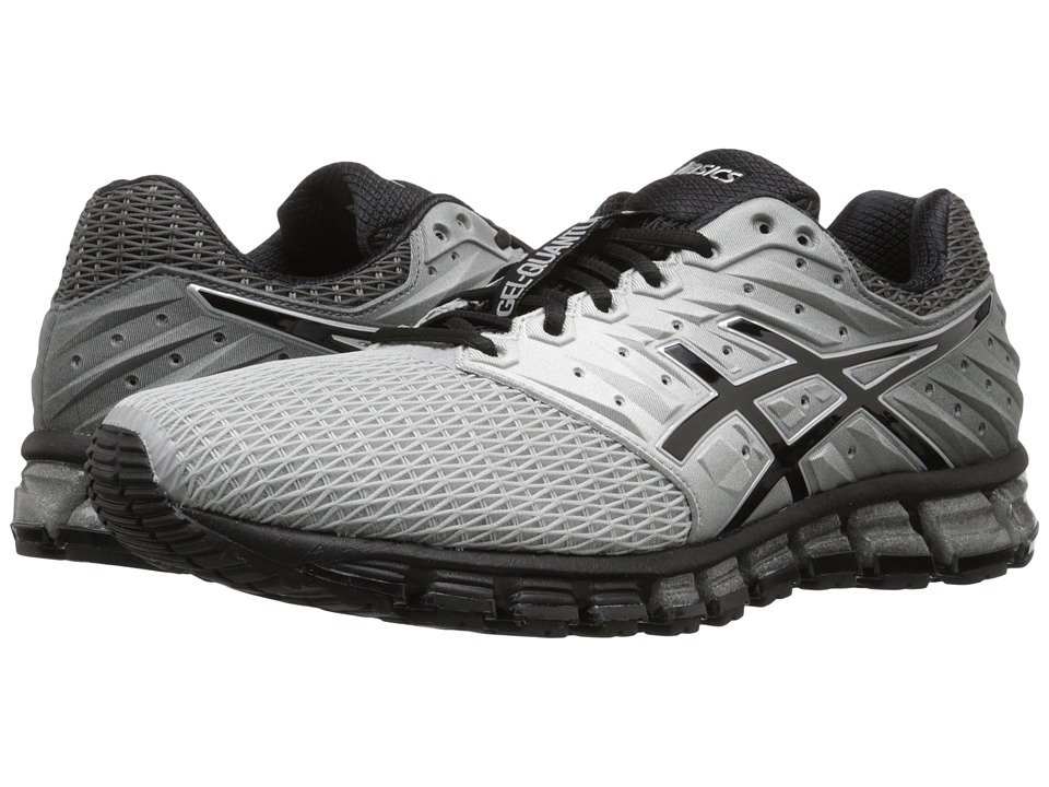 ASICS - Gel-Quantum 180 2 (Mid Grey/Black/Silver) Men's Running Shoes