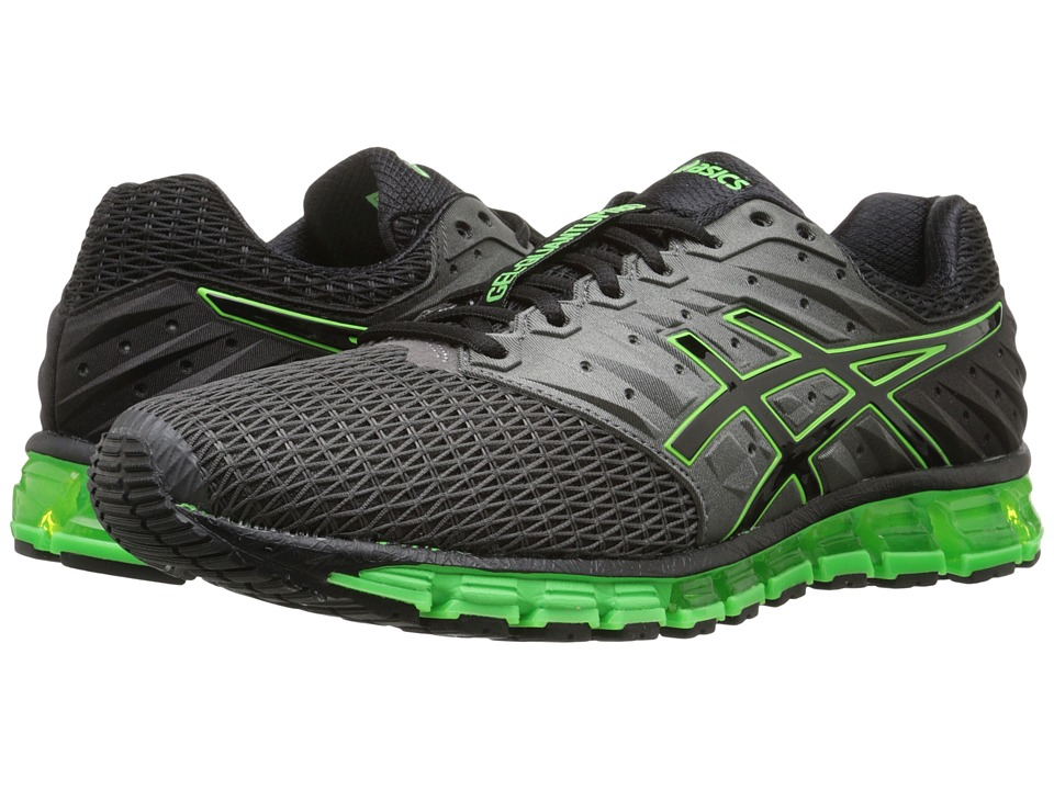 ASICS - Gel-Quantum 180 2 (Carbon/Black/Green Gecko) Men's Running Shoes