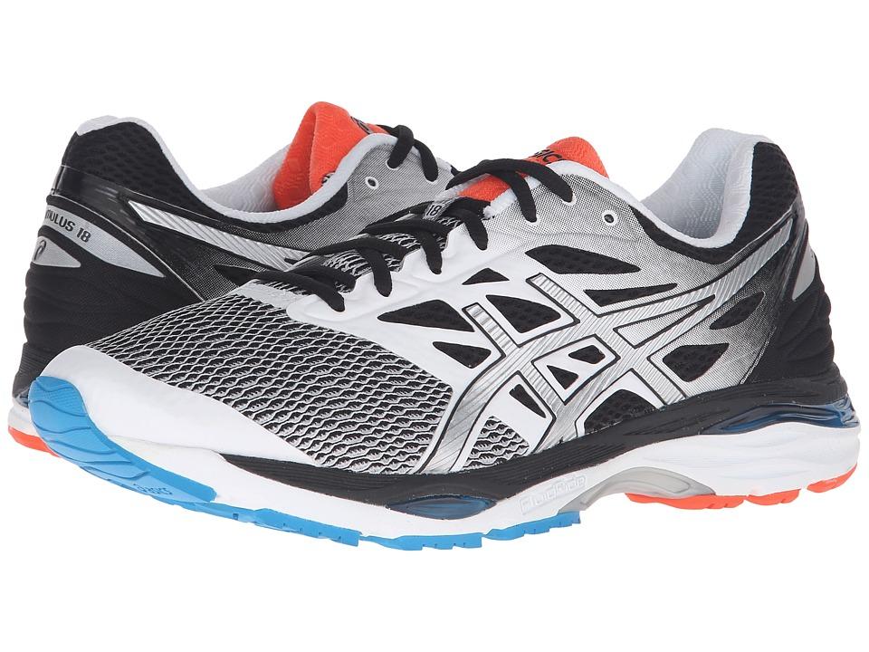 ASICS - Gel-Cumulus(r) 18 (White/Silver/Black) Men's Running Shoes
