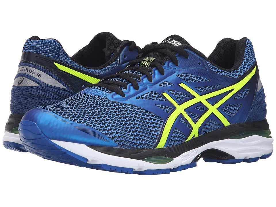 ASICS - Gel-Cumulus(r) 18 (Imperial/Safety Yellow/Black) Men's Running Shoes