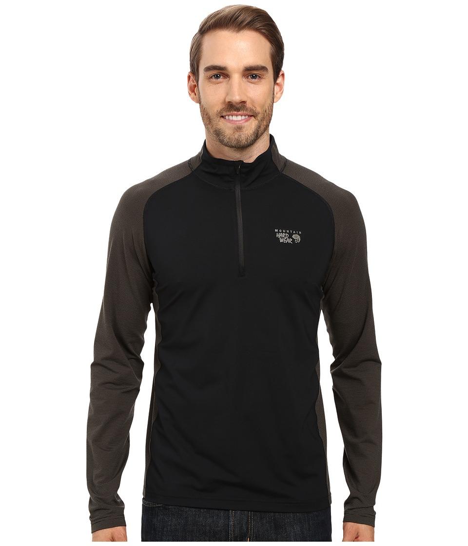Mountain Hardwear - Butterman 1/2 Zip Top (Black) Men's Long Sleeve Pullover
