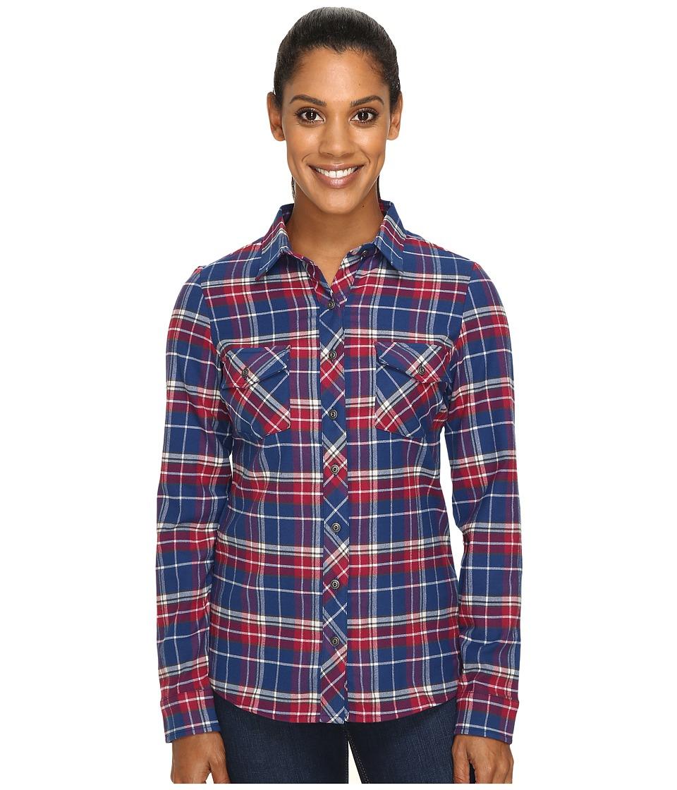KUHL - Alina Flannel Shirt (Blue Depths) Women's Long Sleeve Button Up
