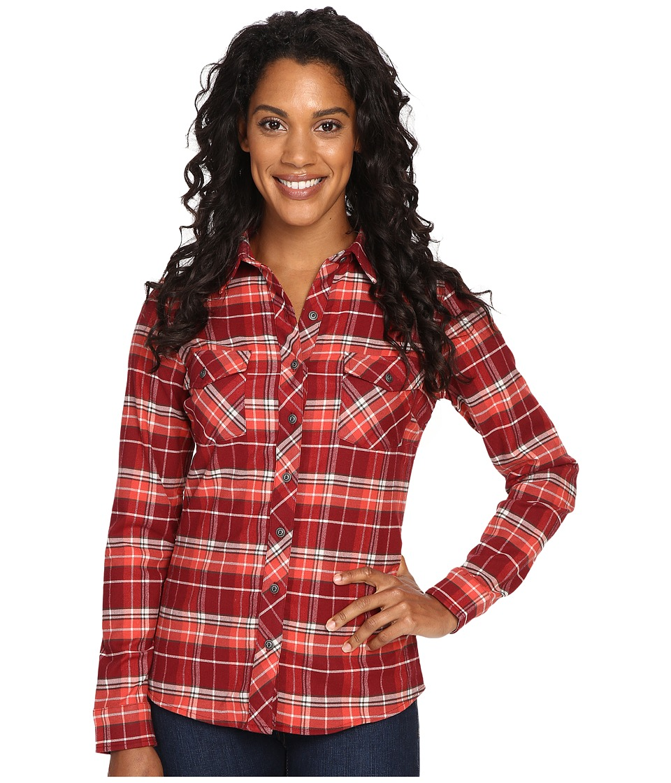 KUHL - Alina Flannel Shirt (Red Spice) Women's Long Sleeve Button Up
