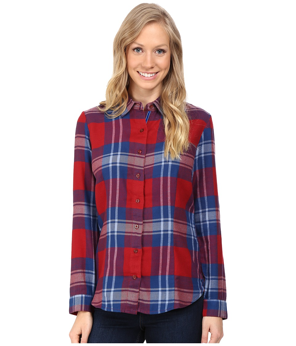 KUHL - Ophelia Flannel Shirt (Red Spice) Women's Long Sleeve Button Up