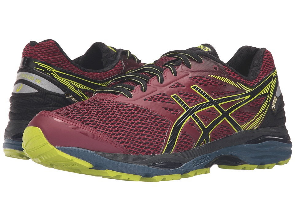 ASICS - Gel-Cumulus(r) 18 GTX (Pomegrante/Black/Sulphur Spring) Men's Running Shoes