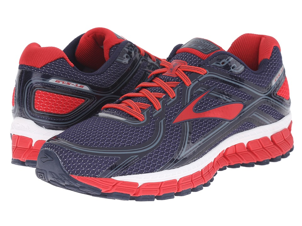 Brooks - Adrenaline GTS 16 (Peacoat/High Risk Red/China Blue) Men's Running Shoes