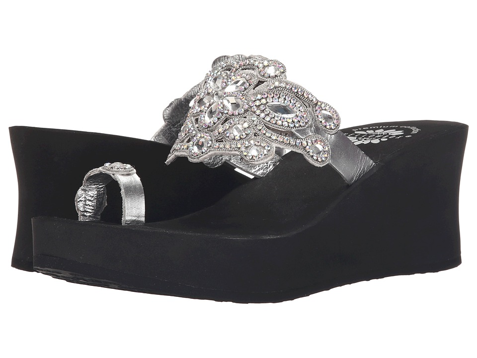 Yellow Box - P-Beauty (Silver) Women's Wedge Shoes