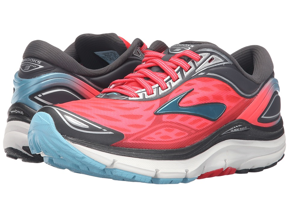 Brooks - Transcend 3 (Diva Pink/Anthracite/Bluefish) Women's Running Shoes