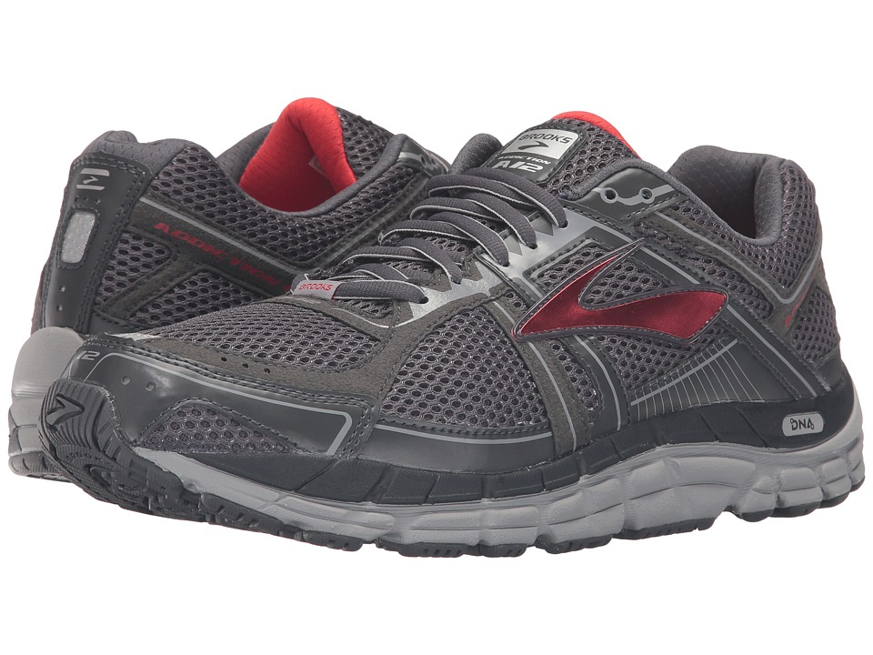 Brooks - Addiction 12 (Anthracite/High Risk Red/Silver) Men's Running Shoes