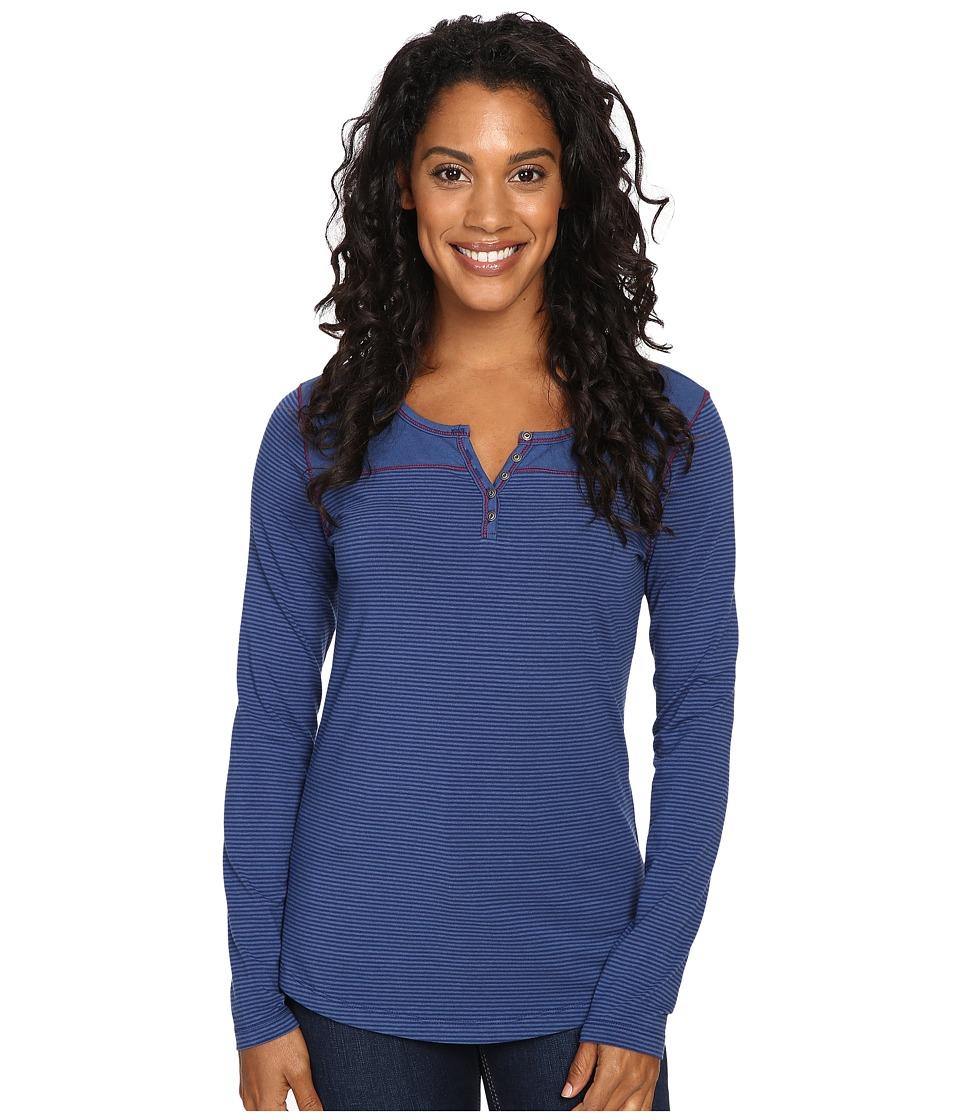 KUHL - Velocetm Long Sleeve Top (Storm Blue) Women's Long Sleeve Pullover