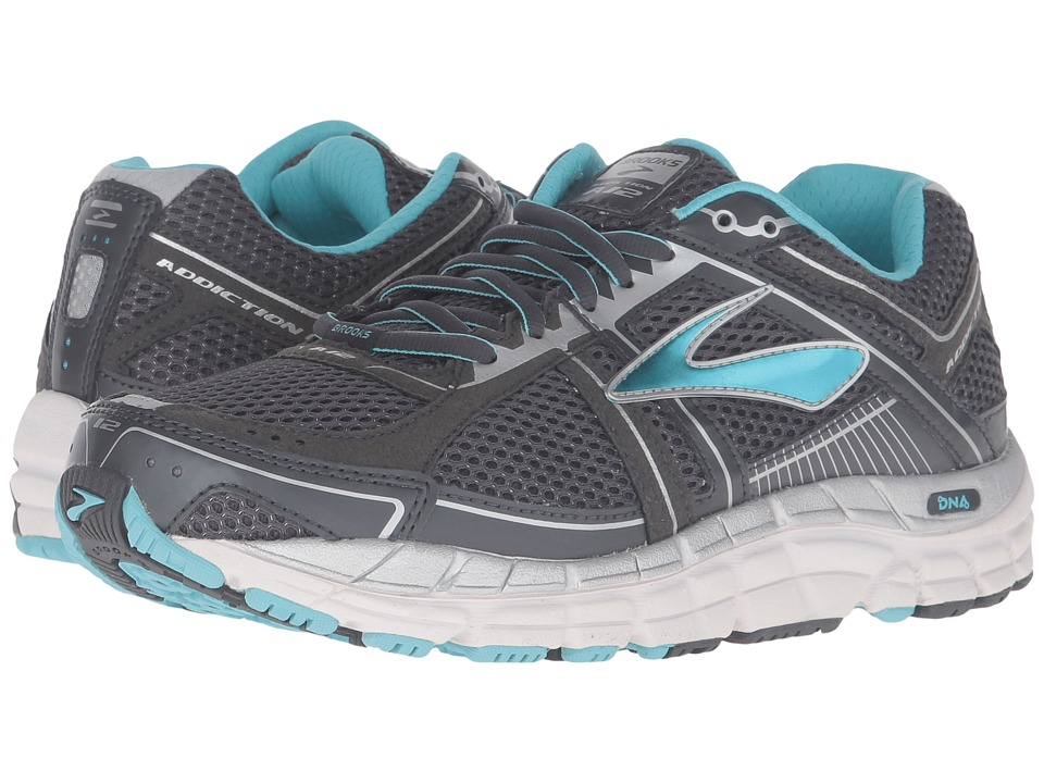 Brooks - Addiction 12 (Anthracite/Bluefish/Silver) Women's Running Shoes