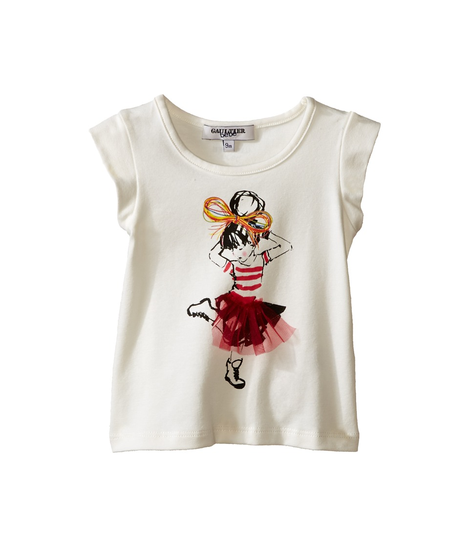 Junior Gaultier - Sens T-Shirt (Infant) (Ecru) Girl's T Shirt