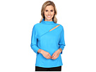 Life Style 3/4 Sleeve with Front Asymmetrical Slit at Shoulder