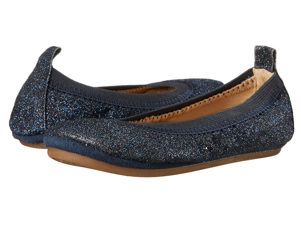 Yosi Samra Kids - Sammie All Over Glitter (Toddler) (Sapphire Glitter) Girl's Shoes
