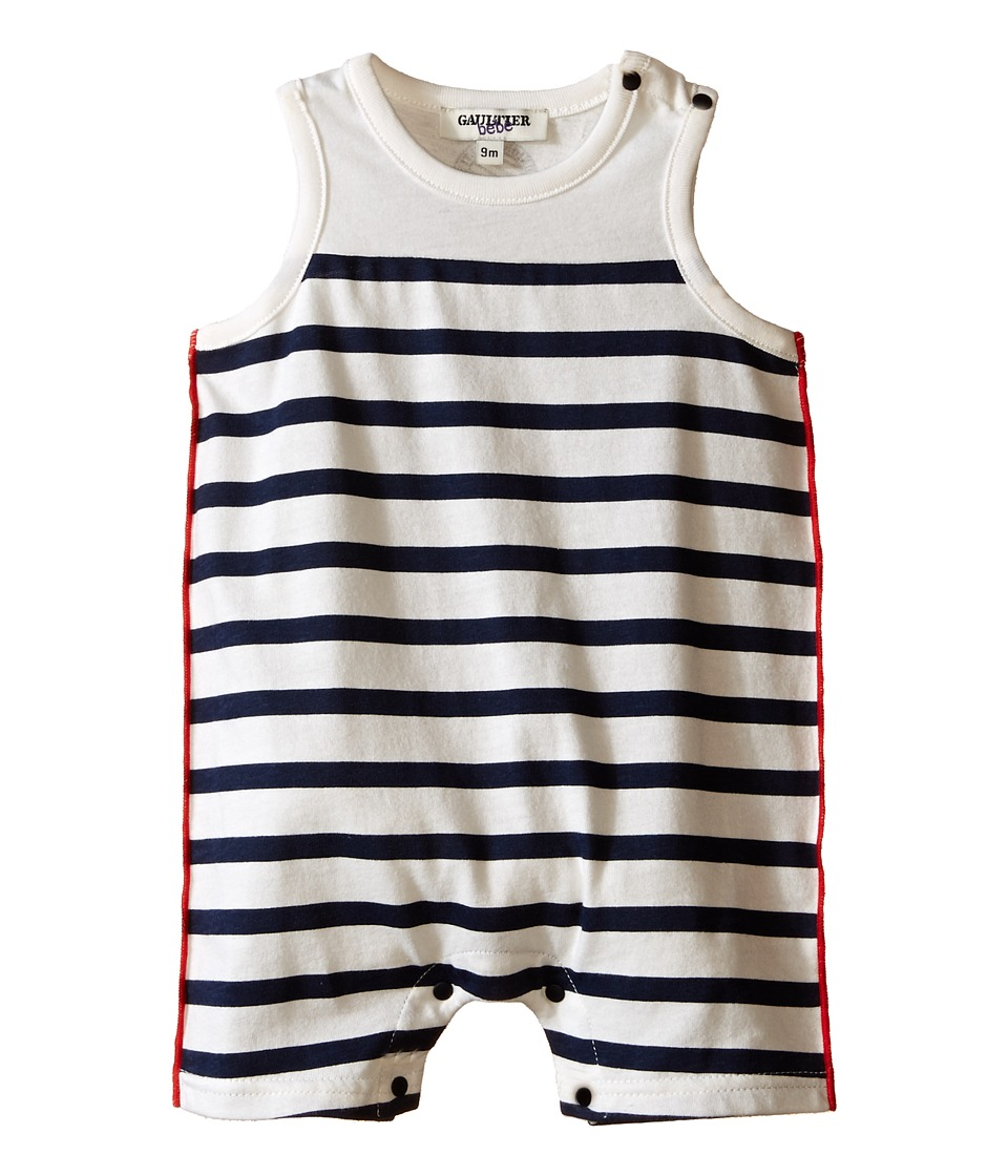 Junior Gaultier - Essential Combi One-Piece (Infant) (Ecru) Boy's Jumpsuit & Rompers One Piece