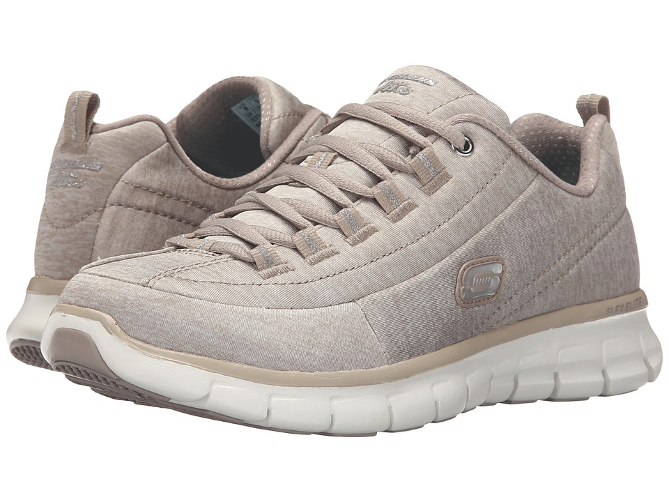 SKECHERS - Spot On (Taupe) Women's Running Shoes