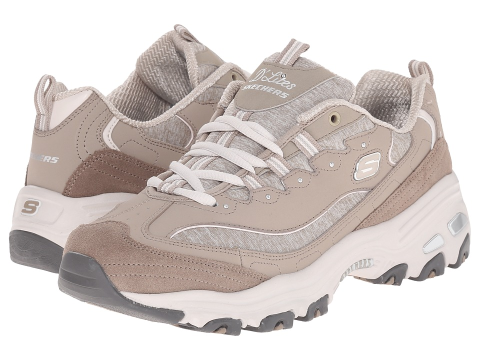 SKECHERS - D'Lites - Me Time (Taupe) Women's Lace up casual Shoes