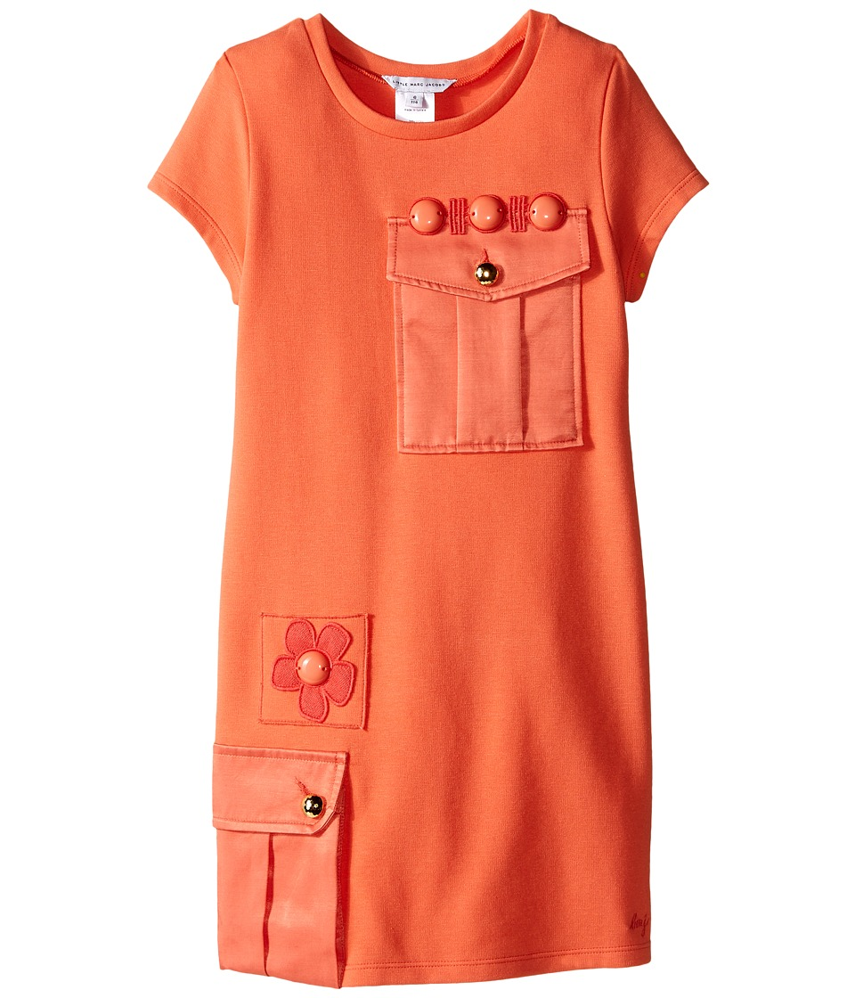 Little Marc Jacobs - Milano Dress with Cabochons (Little Kids/Big Kids) (Coral) Girl's Dress