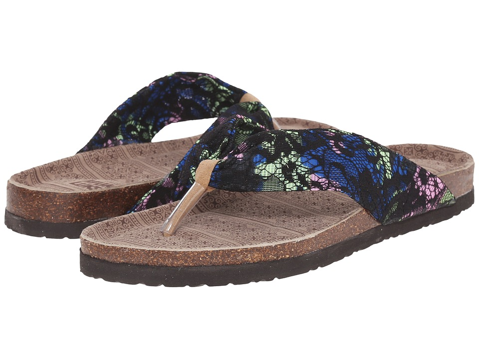 MUK LUKS - Julia (Black) Women's Sandals