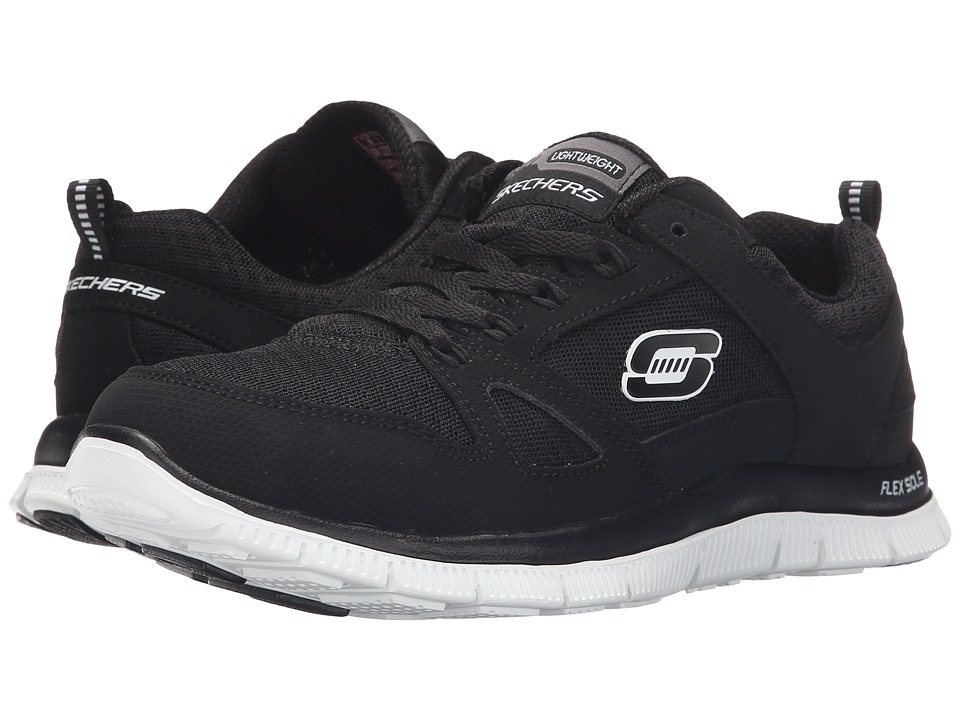 SKECHERS - Flex Appeal - Adaptable (Black/White) Women's Shoes