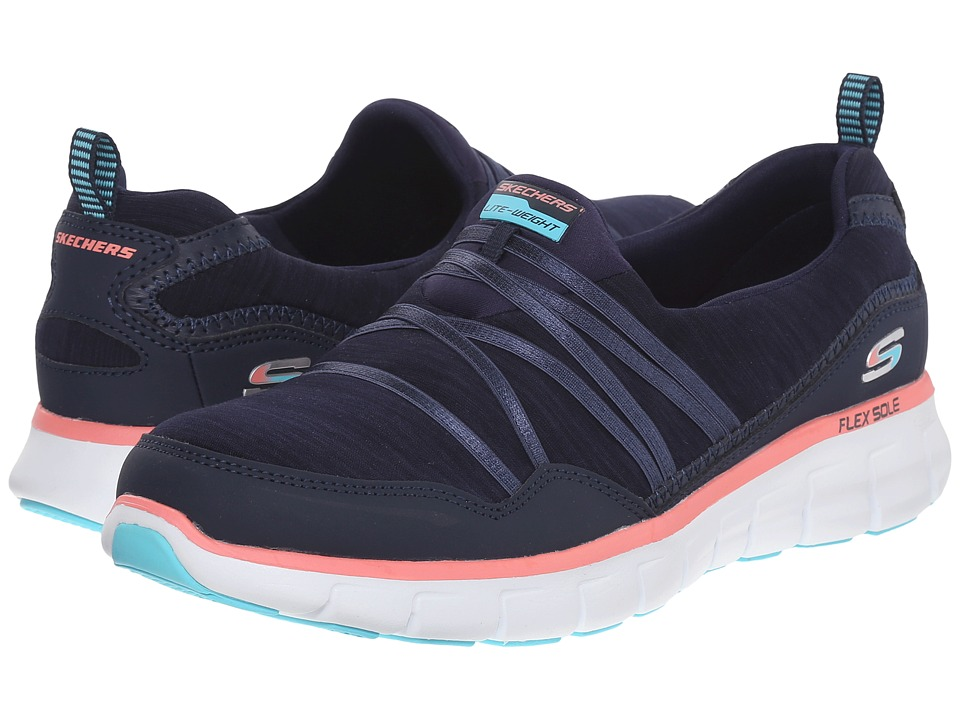 SKECHERS - Synergy - Scene Stealer (Navy/Pink) Women's Shoes