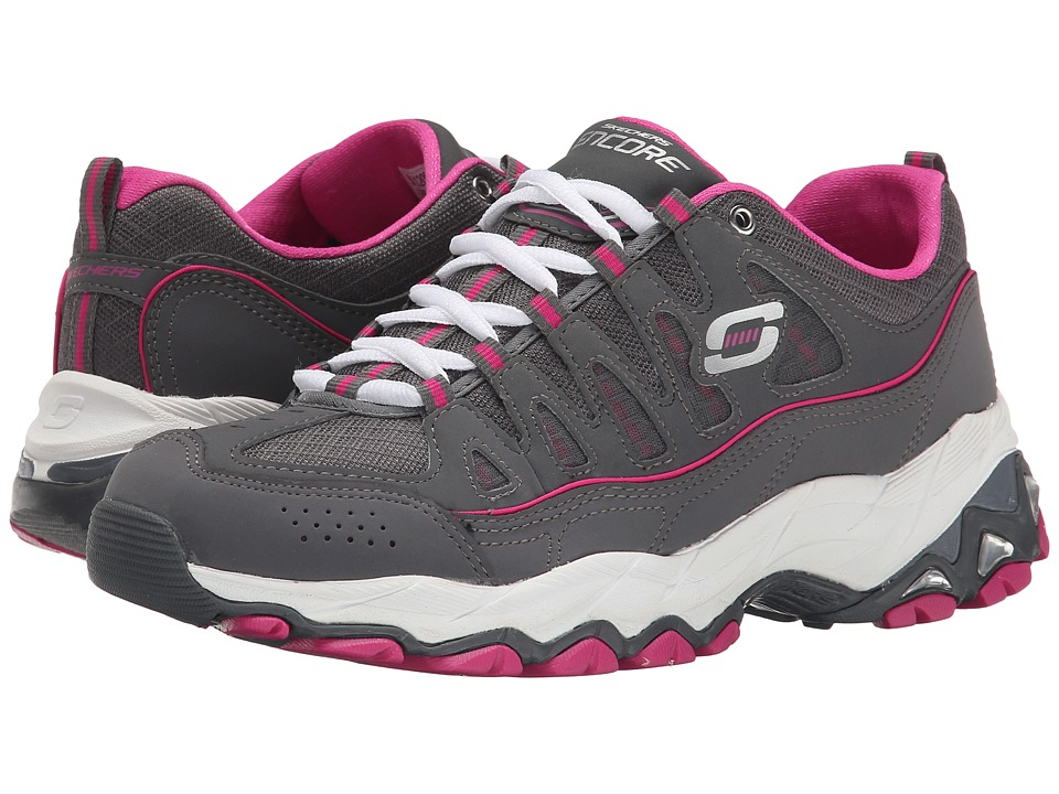 SKECHERS - Encore - Be Seen (Charcoal/Pink) Women's Shoes