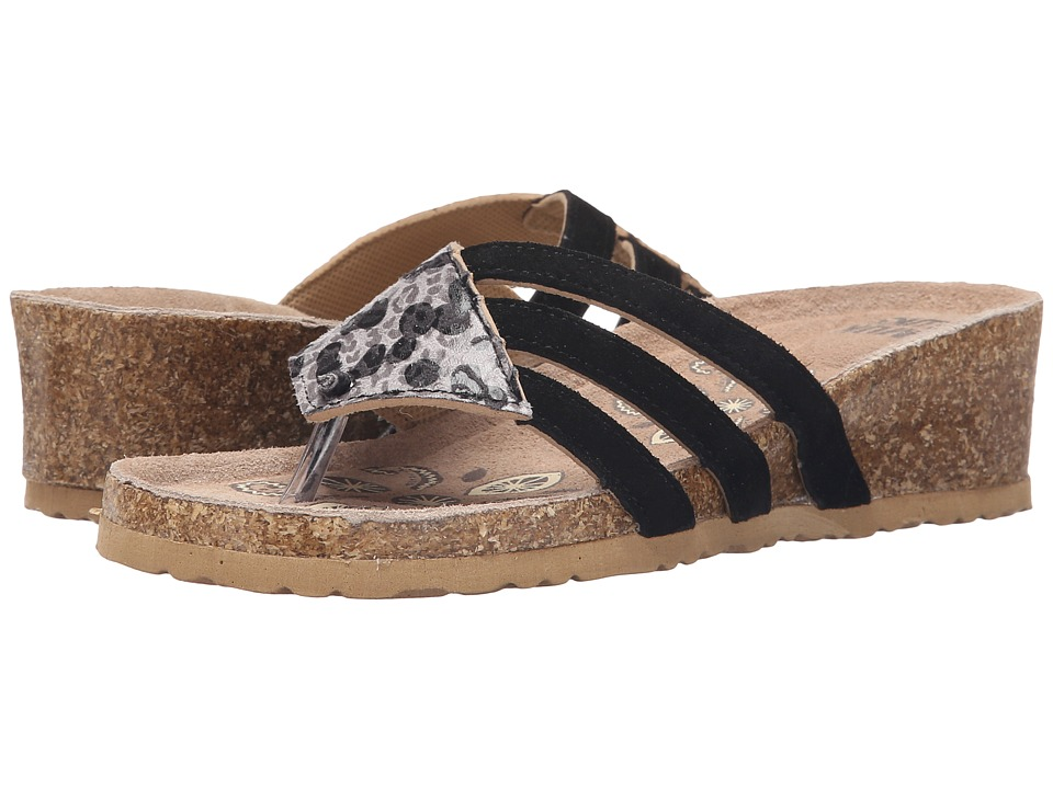 MUK LUKS - Allison (Charcoal) Women's Wedge Shoes