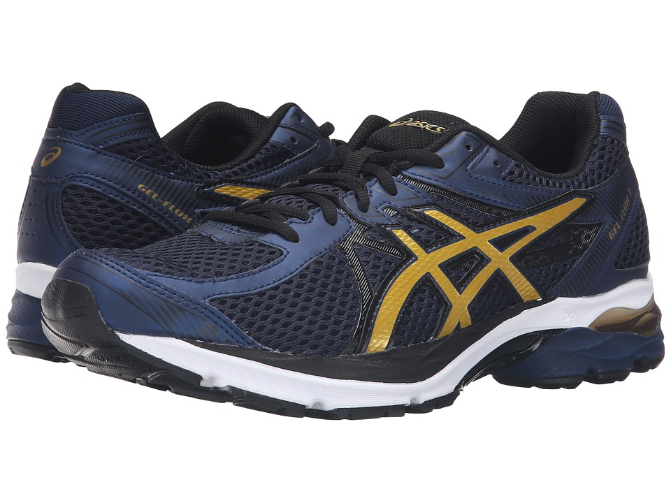 ASICS - GEL-Flux 3 (Dark Navy/Rich Gold/Black) Men's Running Shoes