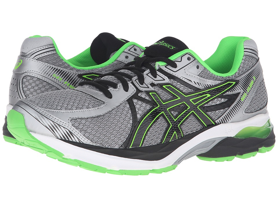 ASICS - GEL-Flux 3 (Lightening/Black/Green Gecko) Men's Running Shoes