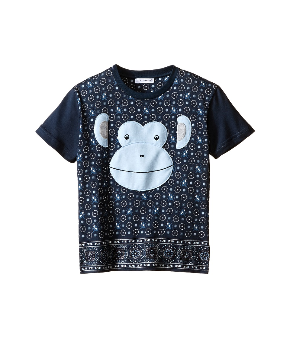 Dolce & Gabbana Kids - Monkey T-Shirt (Toddler/Little Kids) (Blue/Green Print) Boy's T Shirt