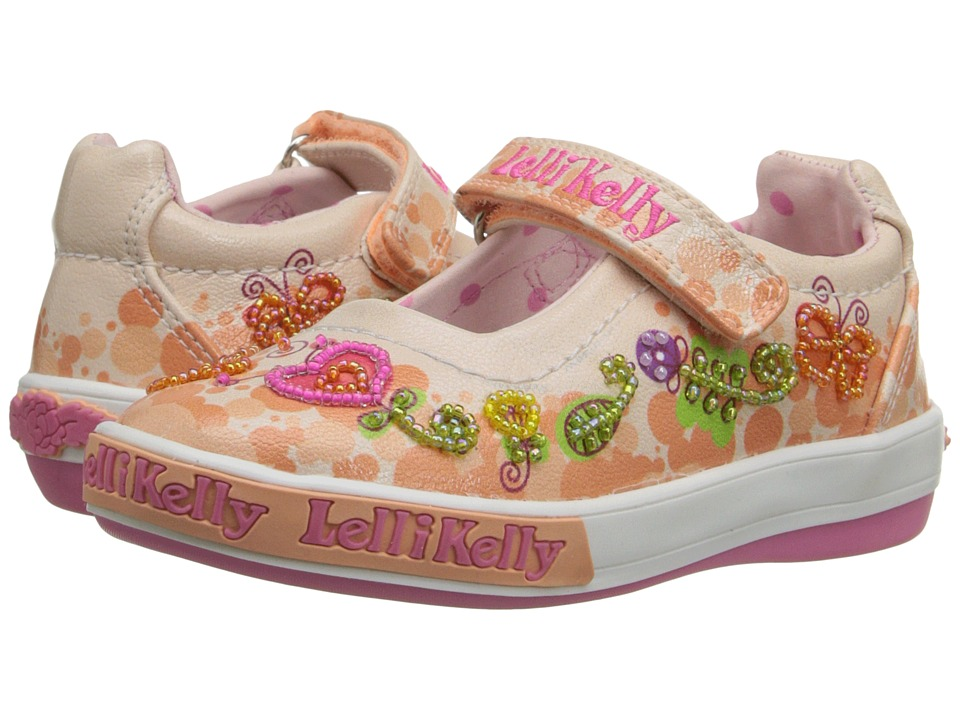 Lelli Kelly Kids - Giardino Dolly (Toddler/Little Kid) (Peach Combo) Girls Shoes
