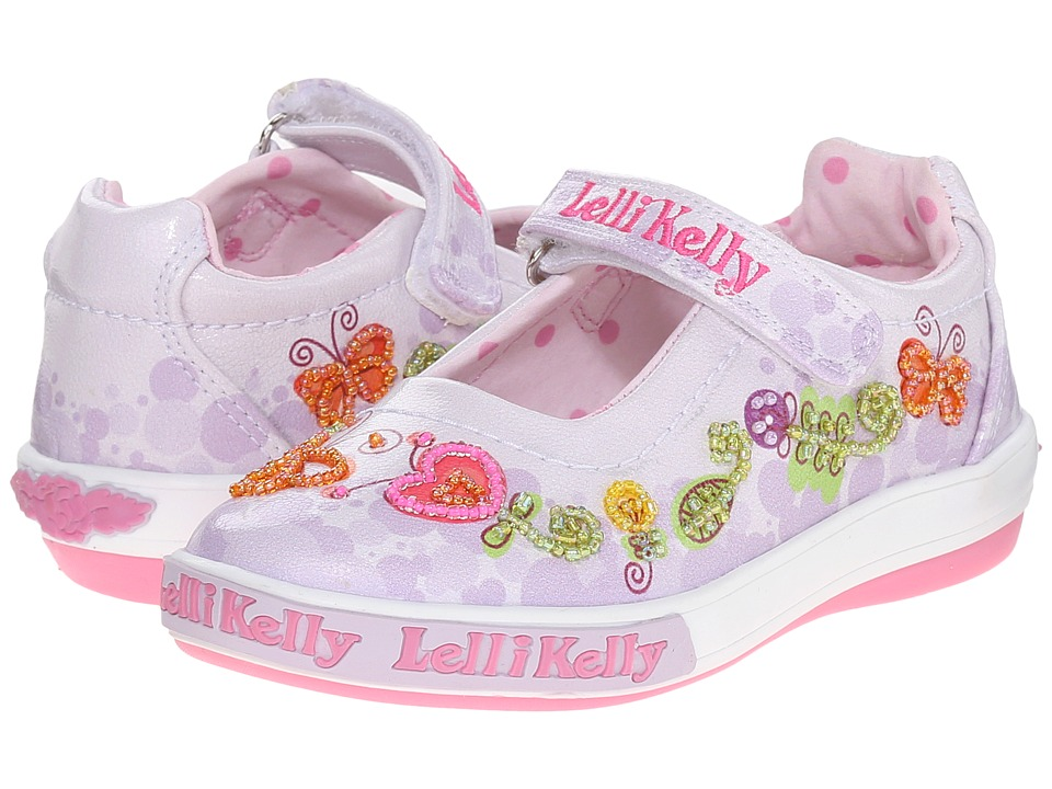 Lelli Kelly Kids - Giardino Dolly (Toddler/Little Kid) (Lilac Combo) Girls Shoes