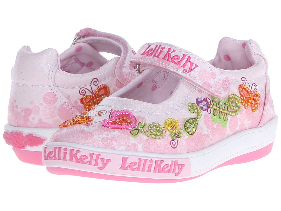 Lelli Kelly Kids - Giardino Dolly (Toddler/Little Kid) (Pink Combo) Girls Shoes