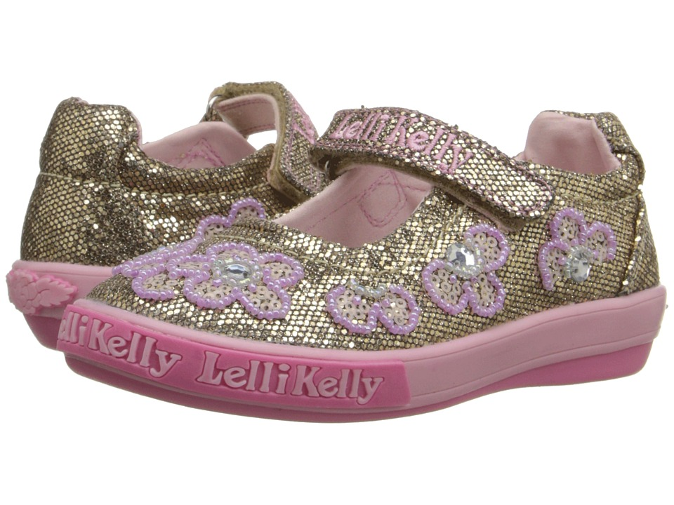 Lelli Kelly Kids - Fiore Dolly (Toddler/Little Kid) (Gold Glitter) Girls Shoes